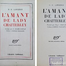 Libros antiguos: LAWRENCE, DAVID H. L'AMANT DE LADY CHATTERLEY. 1932.. Lote 180330102