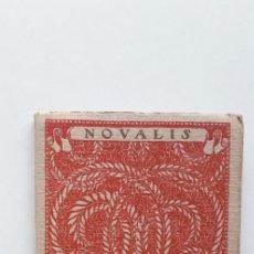 Libros antiguos: LAS MEJORES POESIAS DE LOS MEJORES POETAS - NOVALIS (EDITORIAL CERVANTES). Lote 181022821