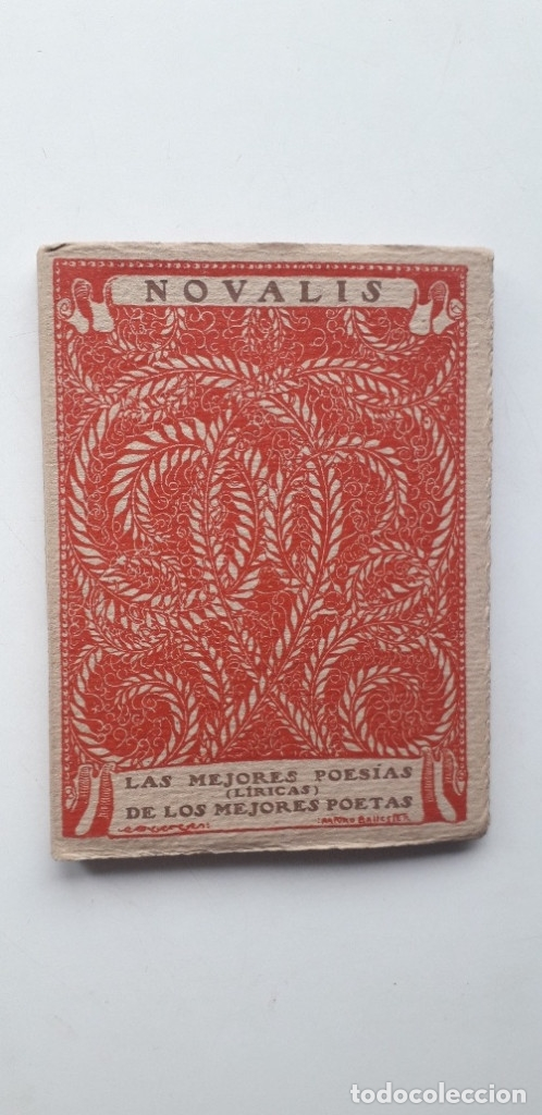 LAS MEJORES POESIAS DE LOS MEJORES POETAS - NOVALIS (EDITORIAL CERVANTES) (Libros antiguos (hasta 1936), raros y curiosos - Literatura - Poesía)