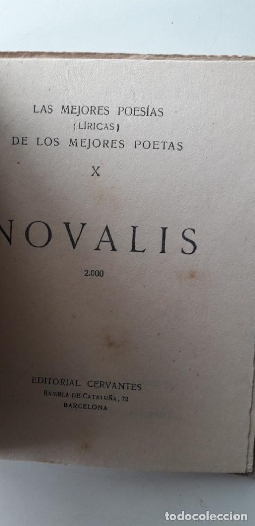 Libros antiguos: Las mejores poesias de los mejores poetas - Novalis (Editorial Cervantes) - Foto 4 - 181023132