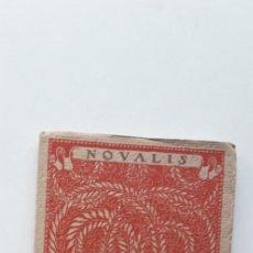 Libros antiguos: LAS MEJORES POESIAS DE LOS MEJORES POETAS - NOVALIS (EDITORIAL CERVANTES) . Lote 181025025
