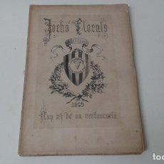 Libros antiguos: JOCHS FLORALS DE BARCELONA 1869. Lote 181606653