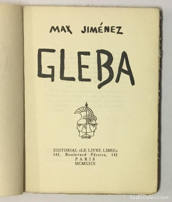 Libros antiguos: GLEBA. - JIMÉNEZ, Max. - Foto 2 - 123203735