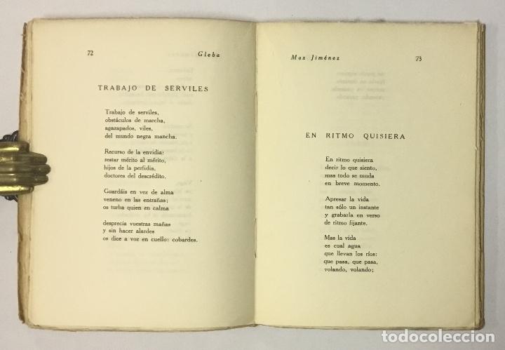 Libros antiguos: GLEBA. - JIMÉNEZ, Max. - Foto 5 - 123203735