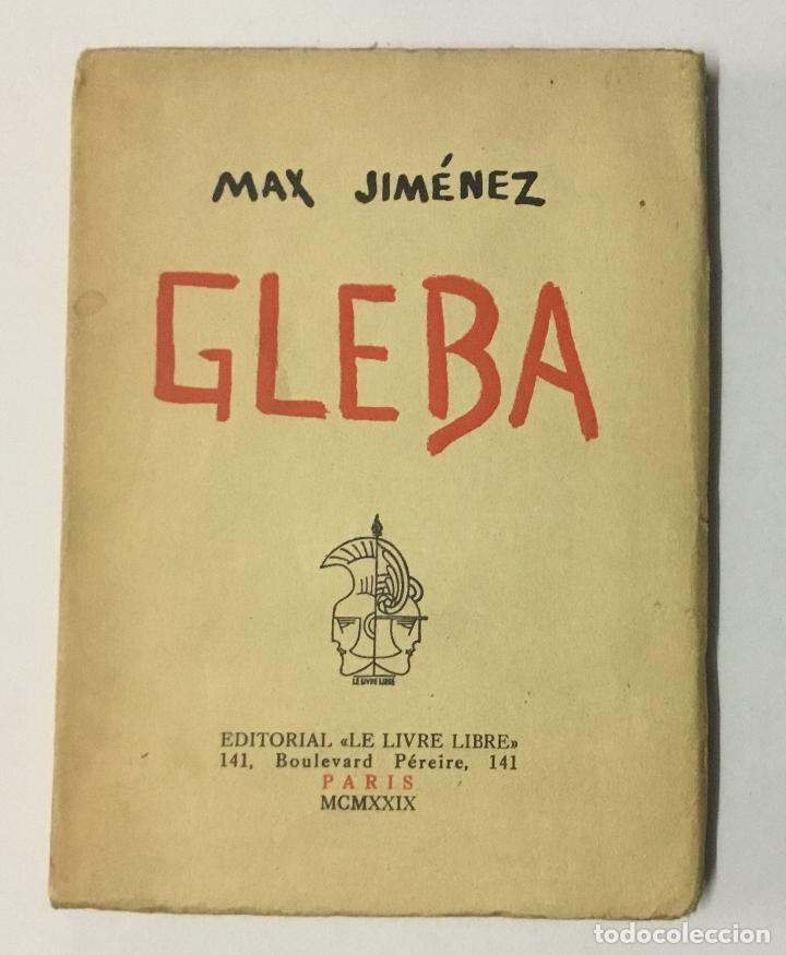 GLEBA. - JIMÉNEZ, MAX. (Libros antiguos (hasta 1936), raros y curiosos - Literatura - Poesía)