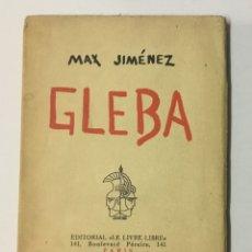 Libros antiguos: GLEBA. - JIMÉNEZ, MAX.. Lote 123203735