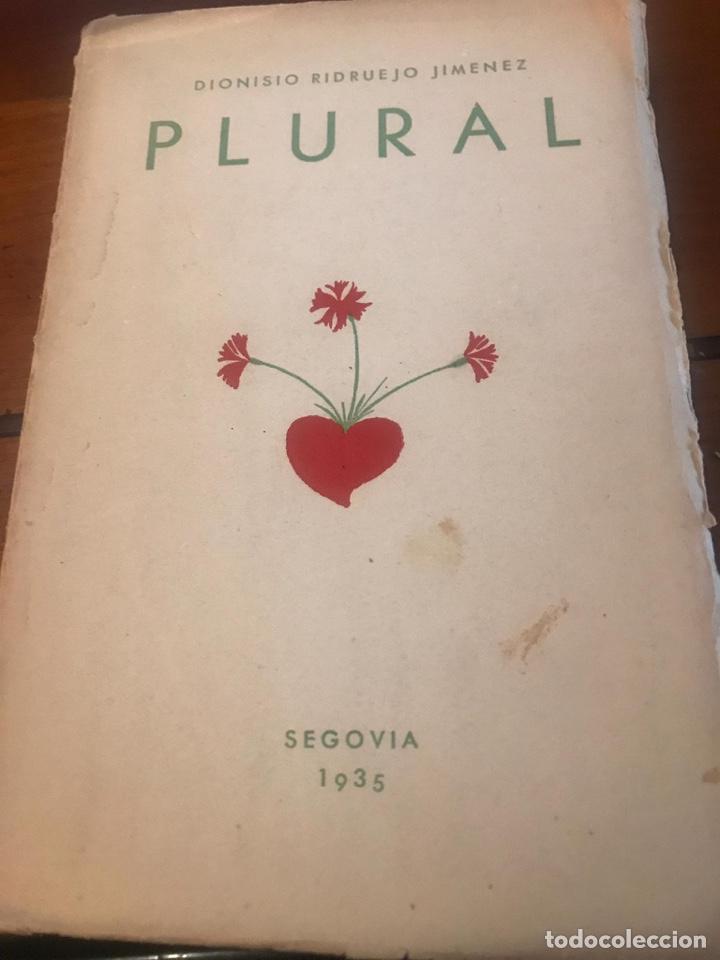 """LIBRO """"PLURAL"""" DE DIONISIO RIDRUEJO JIMENEZ (Libros antiguos (hasta 1936), raros y curiosos - Literatura - Poesía)"""