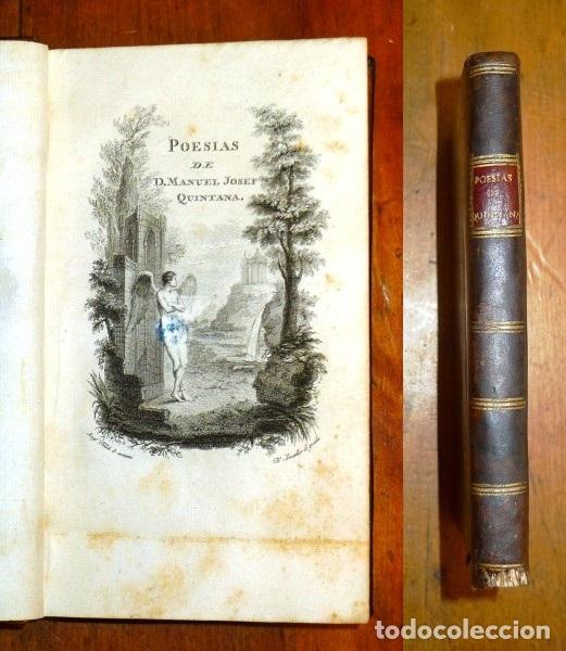 QUINTANA, MANUEL JOSÉ. POESIAS DE D. MANUEL JOSEF QUINTANA. - EN LA IMPRENTA REAL, 1802. - (Libros antiguos (hasta 1936), raros y curiosos - Literatura - Poesía)