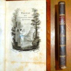 Libros antiguos: QUINTANA, MANUEL JOSÉ. POESIAS DE D. MANUEL JOSEF QUINTANA. - EN LA IMPRENTA REAL, 1802. - . Lote 182960587