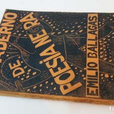 Libros antiguos: 1934 - EMILIO BALLAGAS - CUADERNO DE POESÍA NEGRA - 1ª ED.. Lote 182976312