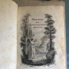 Libros antiguos: POESIAS DE D. MANUEL JOSEF QUINTANA. EN LA IMPRENTA REAL, MADRID, 1802. Lote 183631932