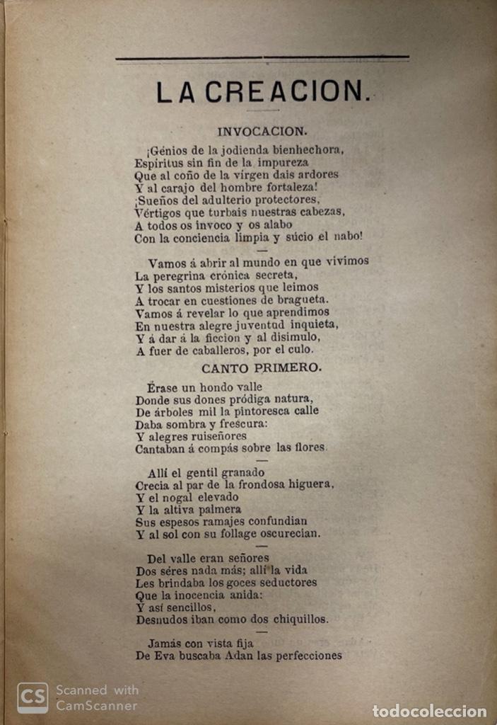 Libros antiguos: LA CREACIÓN. POEMA ÉPICO. MANUEL DEL PALACIO. IMPRENTA ESPAÑOLA. PARIS, 1872. - Foto 4 - 184001872