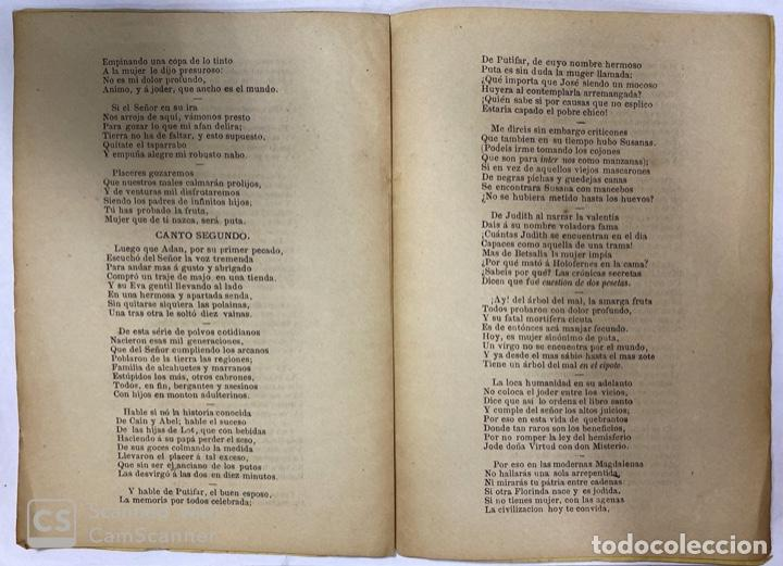 Libros antiguos: LA CREACIÓN. POEMA ÉPICO. MANUEL DEL PALACIO. IMPRENTA ESPAÑOLA. PARIS, 1872. - Foto 6 - 184001872