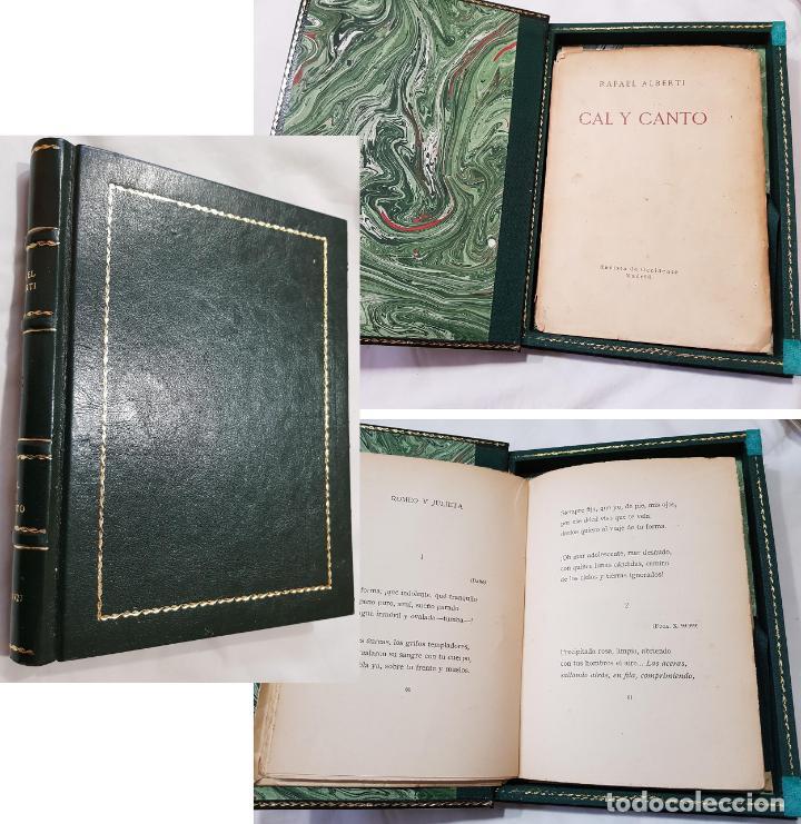 CAL Y CANTO. ALBERTI RAFAEL. 1ª EDICIÓN. 1929. REVISTA DE OCCIDENTE (Libros antiguos (hasta 1936), raros y curiosos - Literatura - Poesía)