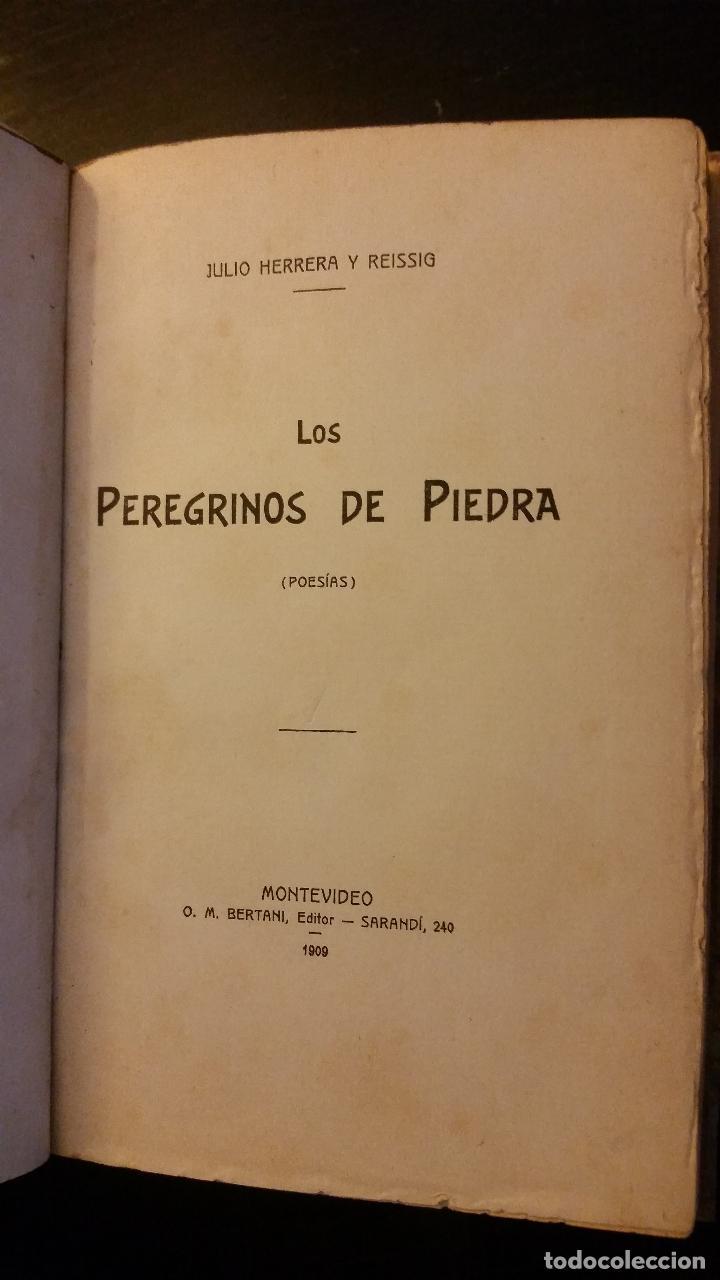 Libros antiguos: 1909 - JULIO HERRERA Y REISSIG - LOS PEREGRINOS DE PIEDRA - 1ª ED. - Foto 3 - 186156225