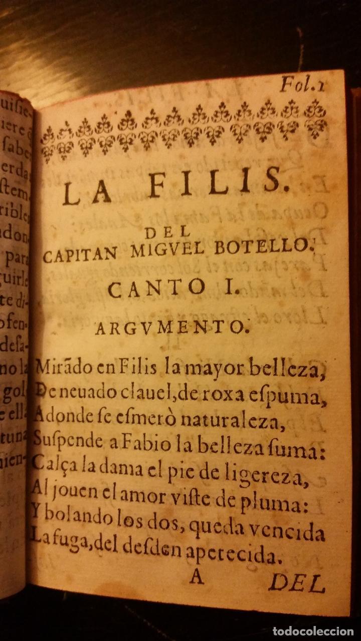 Libros antiguos: 1641 - MIGUEL BOTELLO DE CARVALLO - LA FILIS - PRIMERA EDICIÓN - Foto 6 - 186168848