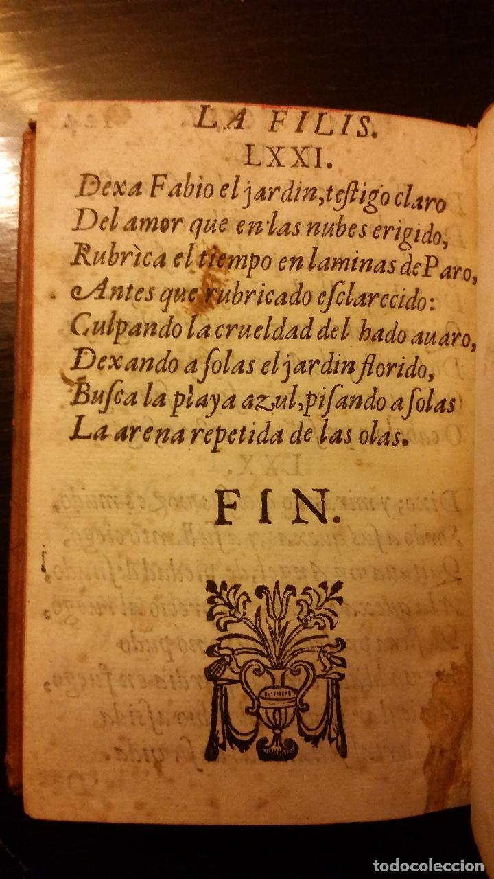 Libros antiguos: 1641 - MIGUEL BOTELLO DE CARVALLO - LA FILIS - PRIMERA EDICIÓN - Foto 10 - 186168848