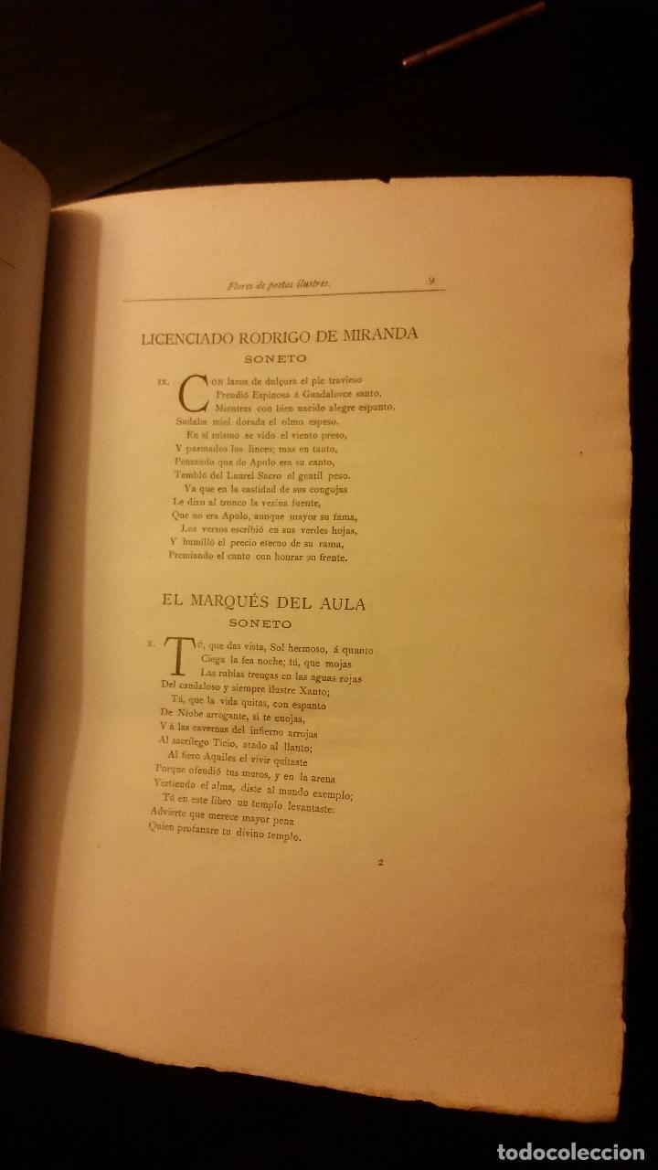 Libros antiguos: 1896 - PEDRO ESPINOSA - Primera (y segunda) parte de las Flores de Poetas Ilustres de España - Foto 5 - 186169460