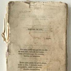 Libros antiguos: RAMÓN CABANILLAS. POSIBLE PRIMERA EDICIÓN OBRA INCOMPLETA . Lote 186406708