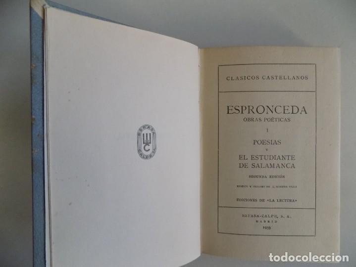 Libros antiguos: LIBRERIA GHOTICA. EDICIÓN LUJOSA EN PERGAMINO DE LAS POESIAS DE ESPRONCEDA. 1933 - Foto 2 - 186455290
