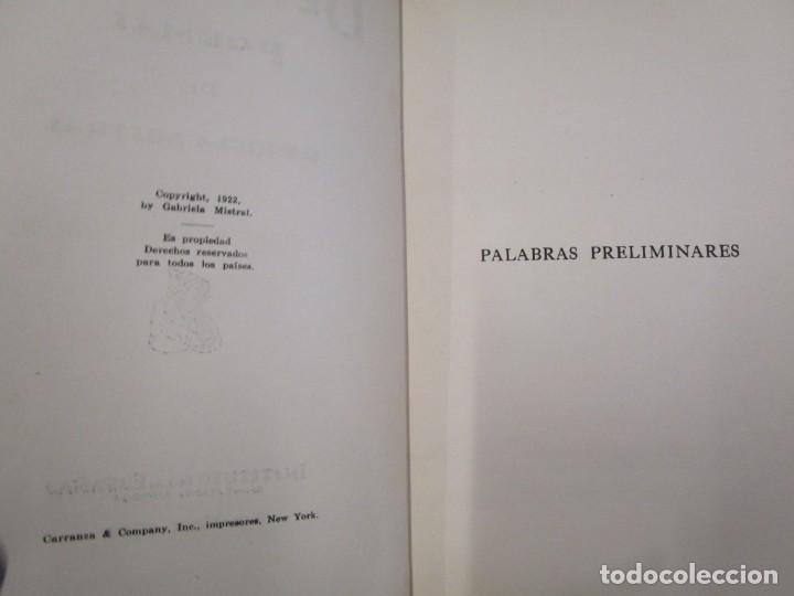 Libros antiguos: RARO - MISTRAL, Gabriela - DESOLACIÓN. POEMAS - New York 1922 - 1ª edición + info y fotos. - Foto 4 - 187462397