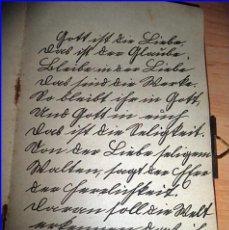 Libros antiguos: AÑO 1918: LIBRO DE POEMAS MANUSCRITO DE CASI 100 AÑOS DE ANTIGÜEDAD. CON CIERRE METÁLICO.. Lote 187592076