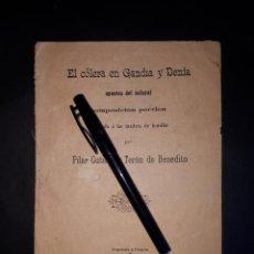 Libros antiguos: EL COLERA EN GANDIA Y DENIA 1890 ALICANTE VALENCIA. Lote 189156358
