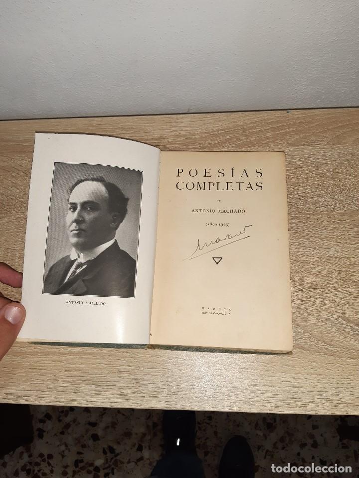 Libros antiguos: Libro poesias completas 1899-1925 Antonio Machado, 1928 - Foto 2 - 189373428