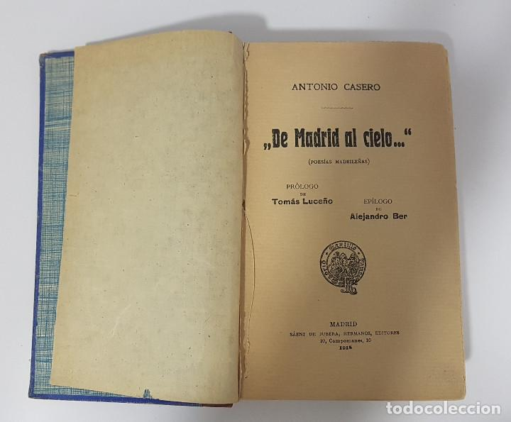 DE MADRID AL CIELO, POESÍAS MADRILEÑAS. ANTONIO CASERO (1918) (Libros antiguos (hasta 1936), raros y curiosos - Literatura - Poesía)