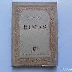 Libros antiguos: LIBRERIA GHOTICA. GUSTAVO ADOLFO BECQUER. RIMAS. 1936. . Lote 190073816
