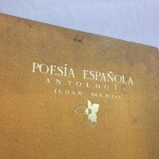 Libros antiguos: POESÍA ESPAÑOLA. EDAD MEDIA. ANTOLOGÍA SELECCIONADA POR DÁMASO ALONSO.. Lote 190401618