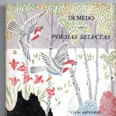 Libros antiguos: OLMEDO : POESÍAS SELECTAS (PARÍS, C. 1920). Lote 190541276