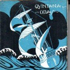 Libros antiguos: QUINTANA : ODAS (PARÍS, C. 1920). Lote 190541552