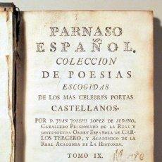 Libros antiguos: LOPEZ DE SEDANO, JUAN JOSEPH - PARNASO ESPAÑOL. COLECCIÓN DE POESÍAS ESCOGIDAS DE LOS CÉLEBRES POETA. Lote 190910196