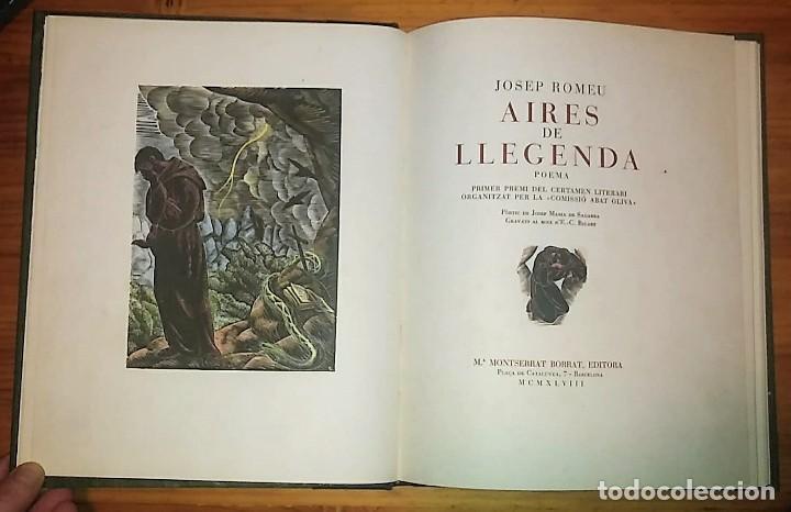 AIRES DE LLEGENDA Poema Josep Romeu Iluminado a mano