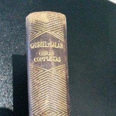 Libros antiguos: OBRAS COMPLETAS. JOSE MARIA GABRIEL Y GALAN. AGUILAR 1941. CANTO DECORADO.PRIMERA EDICION EN UN TOMO. Lote 191486741