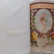Libros antiguos: LIBRERIA GHOTICA. AMANCIO PERATONER.MUSEO EPIGRAMÁTICO. FOLIO.1880. MUCHOS GRABADOS.. Lote 192929041