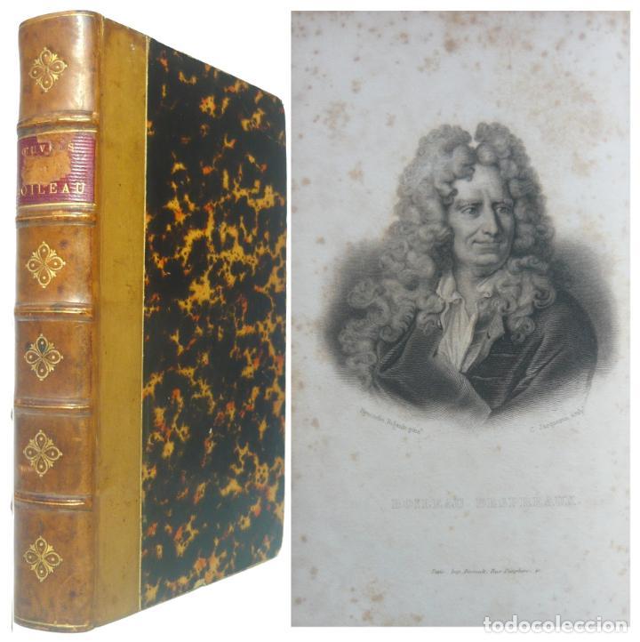 1863 - OBRAS POÉTICAS DE NICOLAS BOILEAU - SÁTIRAS, EPISTOLAS, ARTE POÉTICA - CLASICISMO - RETRATO (Libros antiguos (hasta 1936), raros y curiosos - Literatura - Poesía)