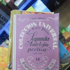 Libri antichi: SEGUNDA ANTOLOGÍA POÉTICA (1898-1918), JUAN RAMÓN JIMÉNEZ. L.20951. Lote 193314635