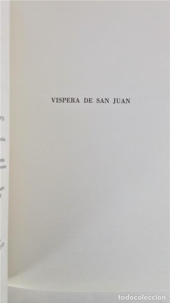 Libros antiguos: POESIA,LIBRO VISPERA DE SAN JUAN,AÑO 1978 DEL FILOSOFO Y ESCRITOR JOSE MARIA CARANDELL,CON AUTOGRAFO - Foto 6 - 193683316