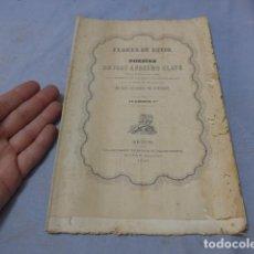 Libros antiguos: * ANTIGUO LIBRO DE POESIA EN CATALAN DE 1858, FLORES DE ESTILO. ORIGINAL. ZX. Lote 194238885