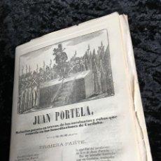 Libros antiguos: LOTE DE 10 PLIEGOS DE CORDEL JUAN PORTELA - ASESINATOS Y ROBOS EN CÓRDOBA - 1870 IMPR. ROCA. Lote 194307058