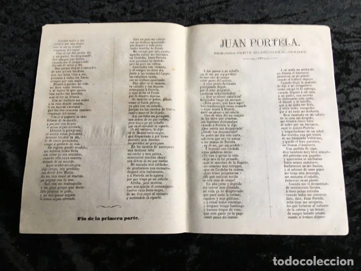 Libros antiguos: Lote de 10 PLIEGOS DE CORDEL JUAN PORTELA - ASESINATOS Y ROBOS EN CÓRDOBA - 1870 Impr. ROCA - Foto 2 - 194307058