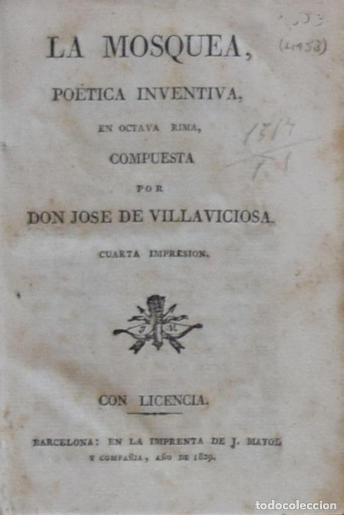 LA MOSQUEA, POÉTICA INVENTIVA EN OCTAVA RIMA COMPUESTA POR... - JOSÉ DE VILLAVICIOSA (Libros antiguos (hasta 1936), raros y curiosos - Literatura - Poesía)