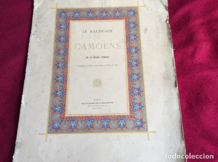 LE NAUFRAGE DE CAMOENS. ODE DE ADOLPH PUIBUSQUE. AÑO 1885 . MUY ESCASO. ENVIO GRÁTIS (Libros antiguos (hasta 1936), raros y curiosos - Literatura - Poesía)