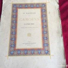Libros antiguos: LE NAUFRAGE DE CAMOENS. ODE DE ADOLPH PUIBUSQUE. AÑO 1885 . MUY ESCASO. ENVIO GRÁTIS. Lote 194326217