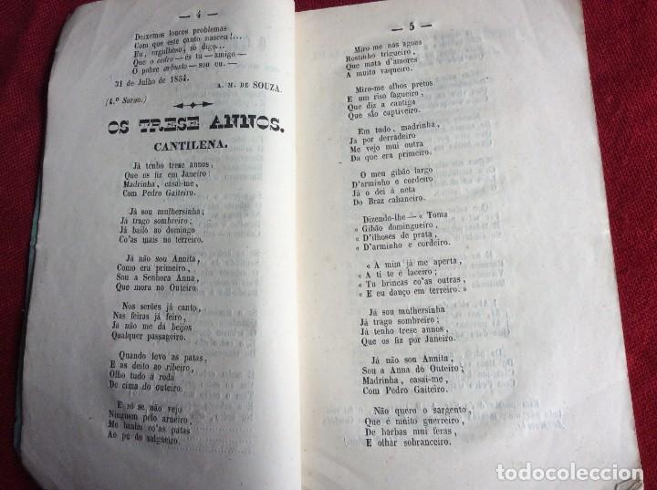 Libros antiguos: Poemas poéticos de Oporto, publicad. en beneficio... por J. A. de Freitas Junior, 1854. Envio grátis - Foto 3 - 194333253