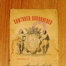 Libros antiguos: CANTARES CORDOBESES / COMPUESTOS POR ANGEL AVILÉS. - SUCESORES DE RIVADENEYRA, 1898. Lote 194392522