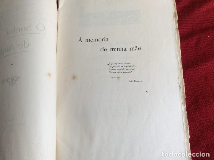 Libros antiguos: El sueño de Augusto, traducción del poema de Alfredo Musset, Por João Deville, 1910. Muy, mur raro. - Foto 3 - 194489796