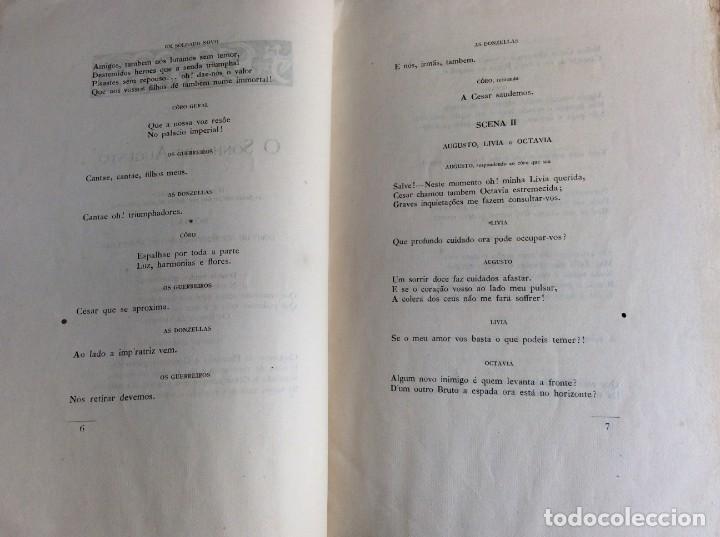 Libros antiguos: El sueño de Augusto, traducción del poema de Alfredo Musset, Por João Deville, 1910. Muy, mur raro. - Foto 5 - 194489796